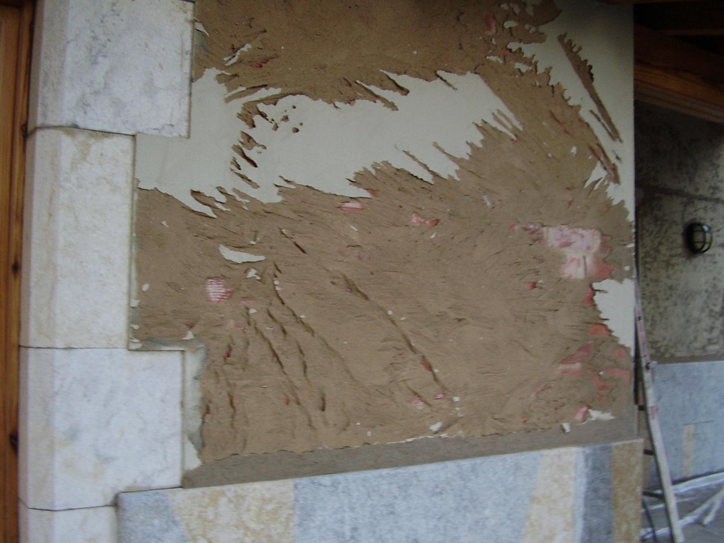 detalle Rehabilitacion paso a paso de una fachada en Girona